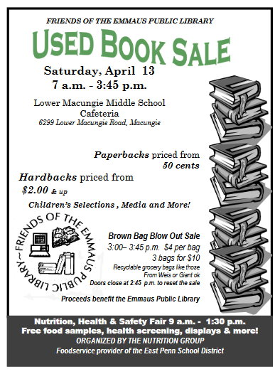 Friends of the Emmaus Public Library Booksale - Emmaus