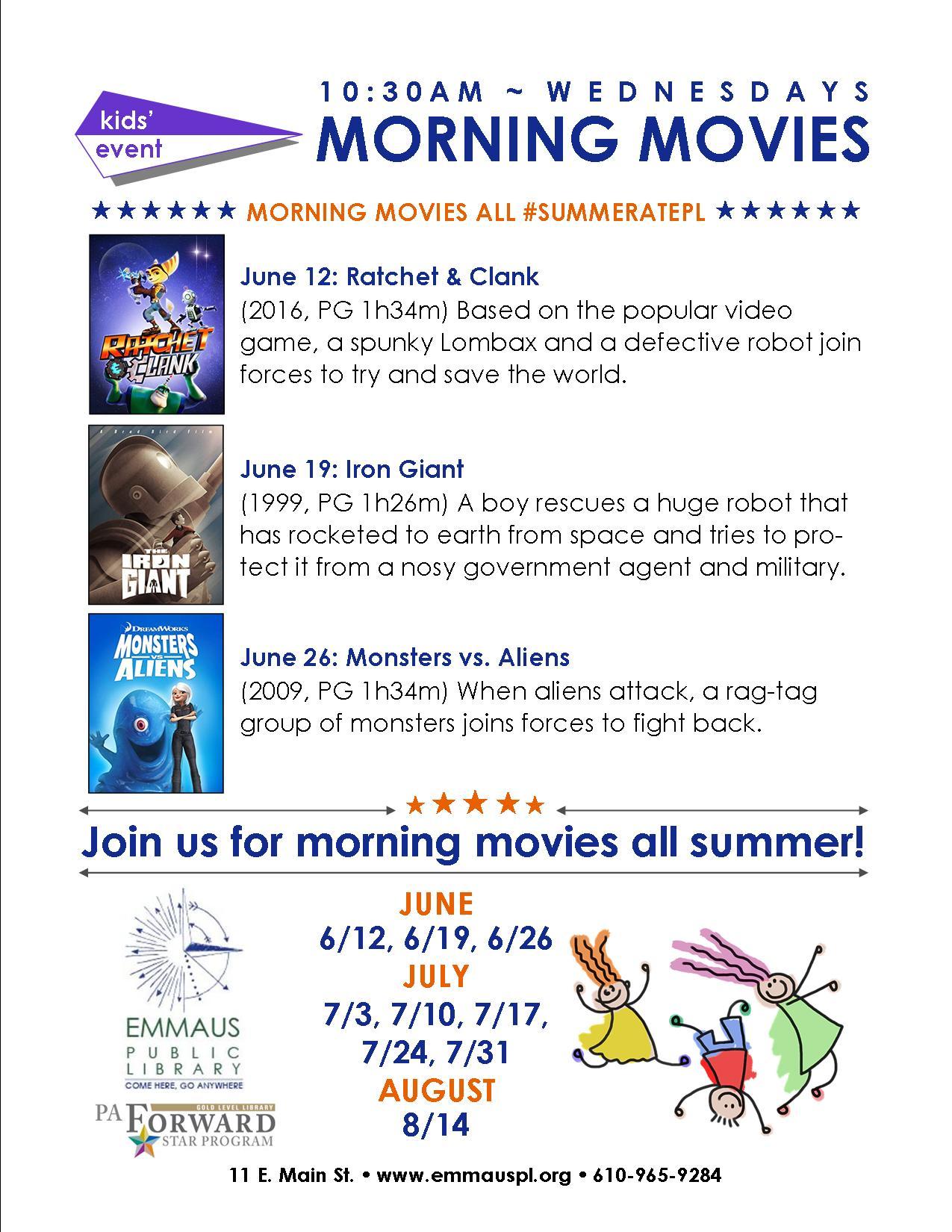 Summer Storytime and Movie Series start this week! - Emmaus