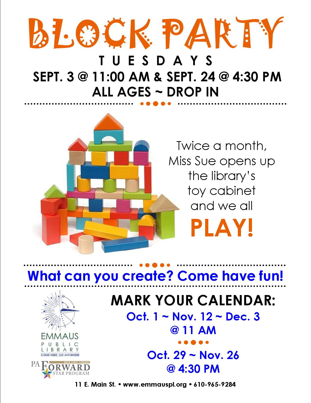 Emmaus Public Library Events | Children, Teen, & Adult