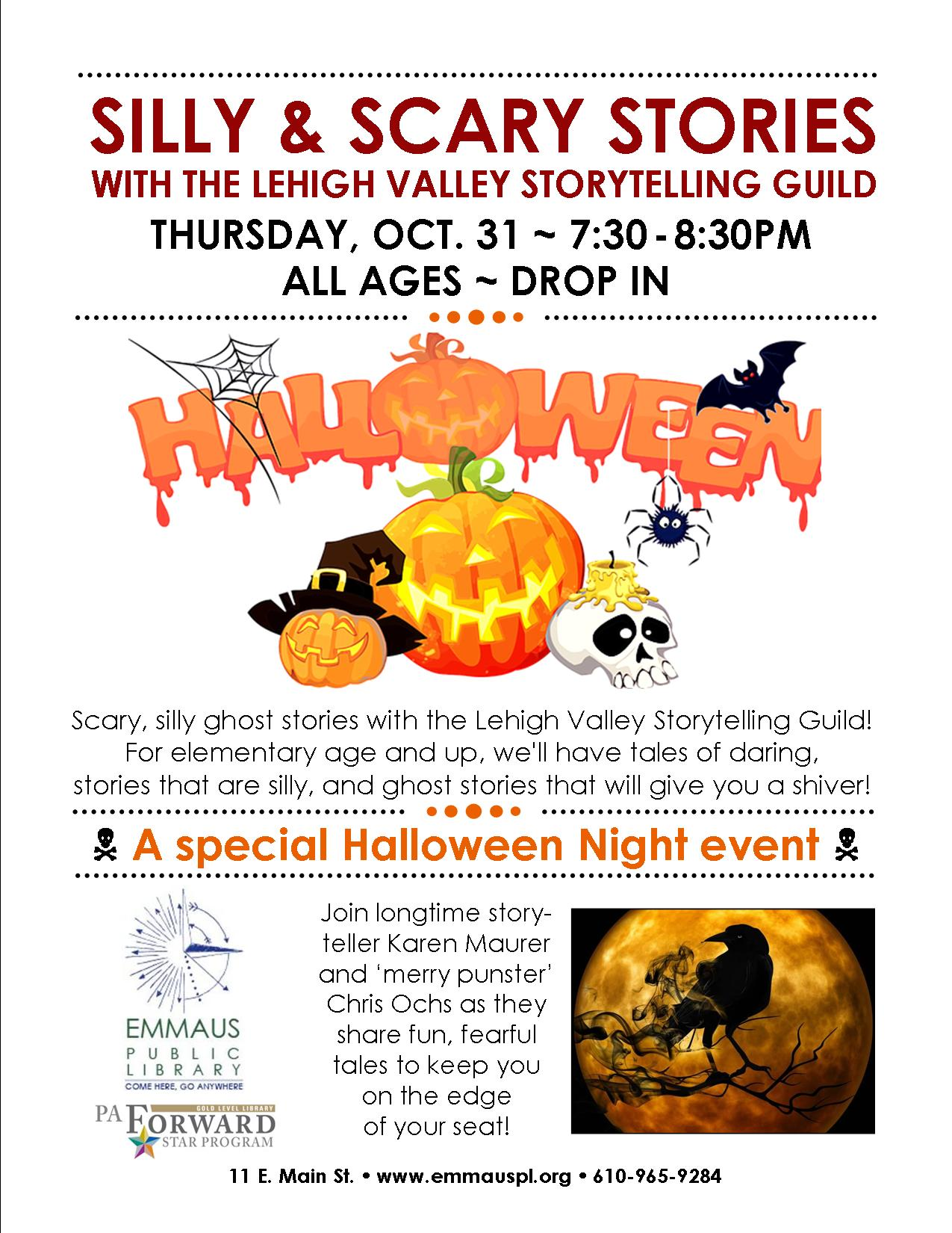 Silly Scary Stories With The Lehigh Valley Storytelling Guild