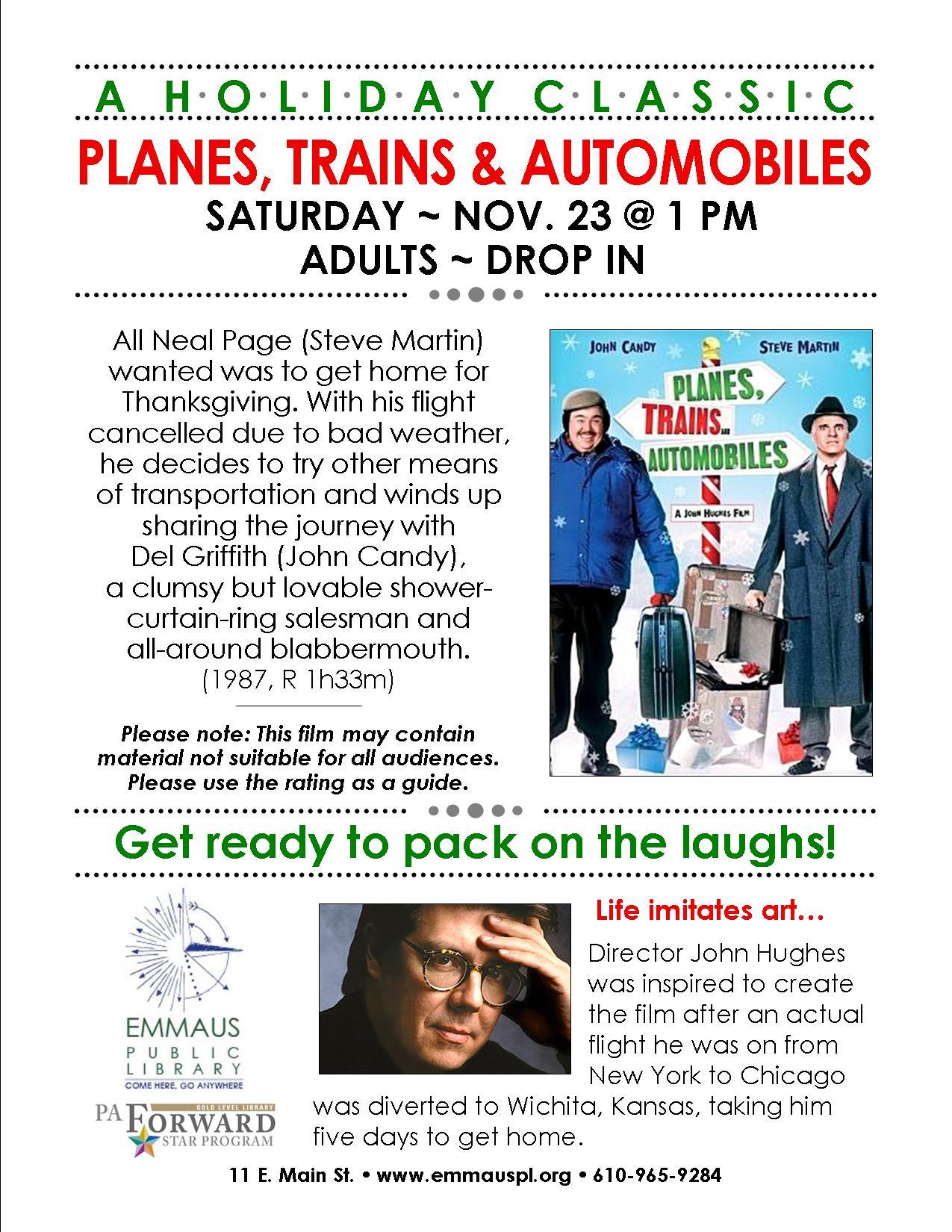 Planes Trains Automobiles Emmaus Public Library