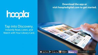 Stream thousands of movies, TV shows, music albums, audiobooks, eBooks and comics, all available for mobile and online access through Hoopla digital